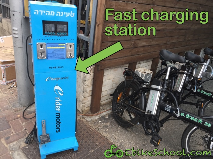 Electric Bicycle Charging Station Found One